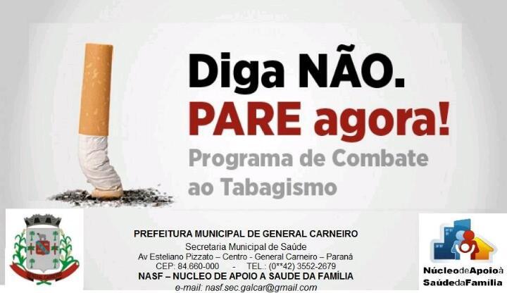 PROGRAMA DE COMBATE AO TABAGISMO